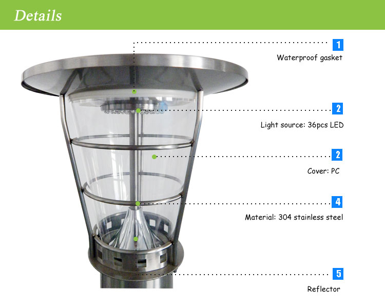Outdoor Solar Powered Heat Lamp Ip65 Led Lamp Waterproof