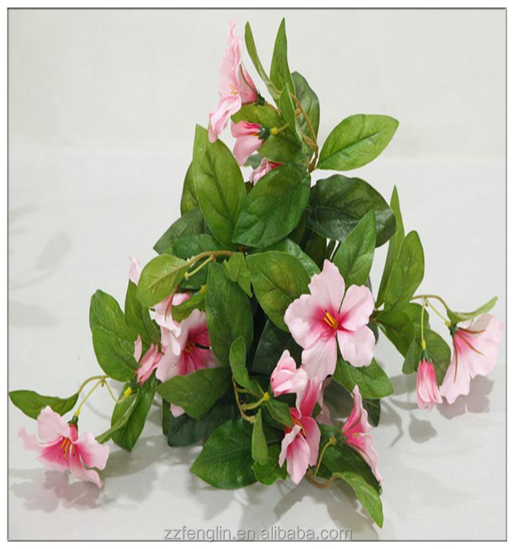 16 Tall Silk Flower Christmas Home Decor Artificial Azalea Flower Bush Silk Flower Arrangement