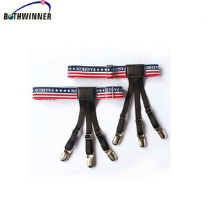 Garters with non slip locking clamps nylon H0tdh suspenders braces for shirts