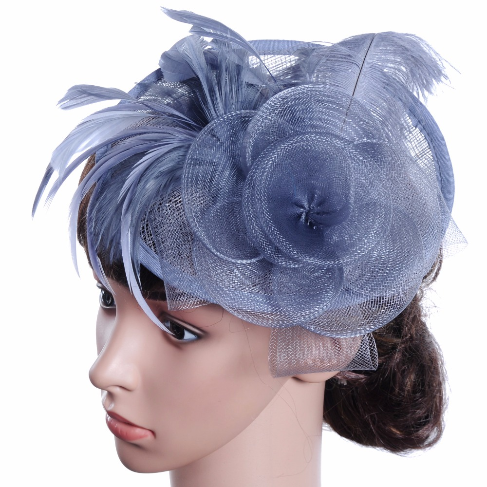 Bridal Wedding Hats For Women Sinamay Church Hat Fascicnator With Feather  Decoration - Buy Wedding And Church Hats 807090ab2ef