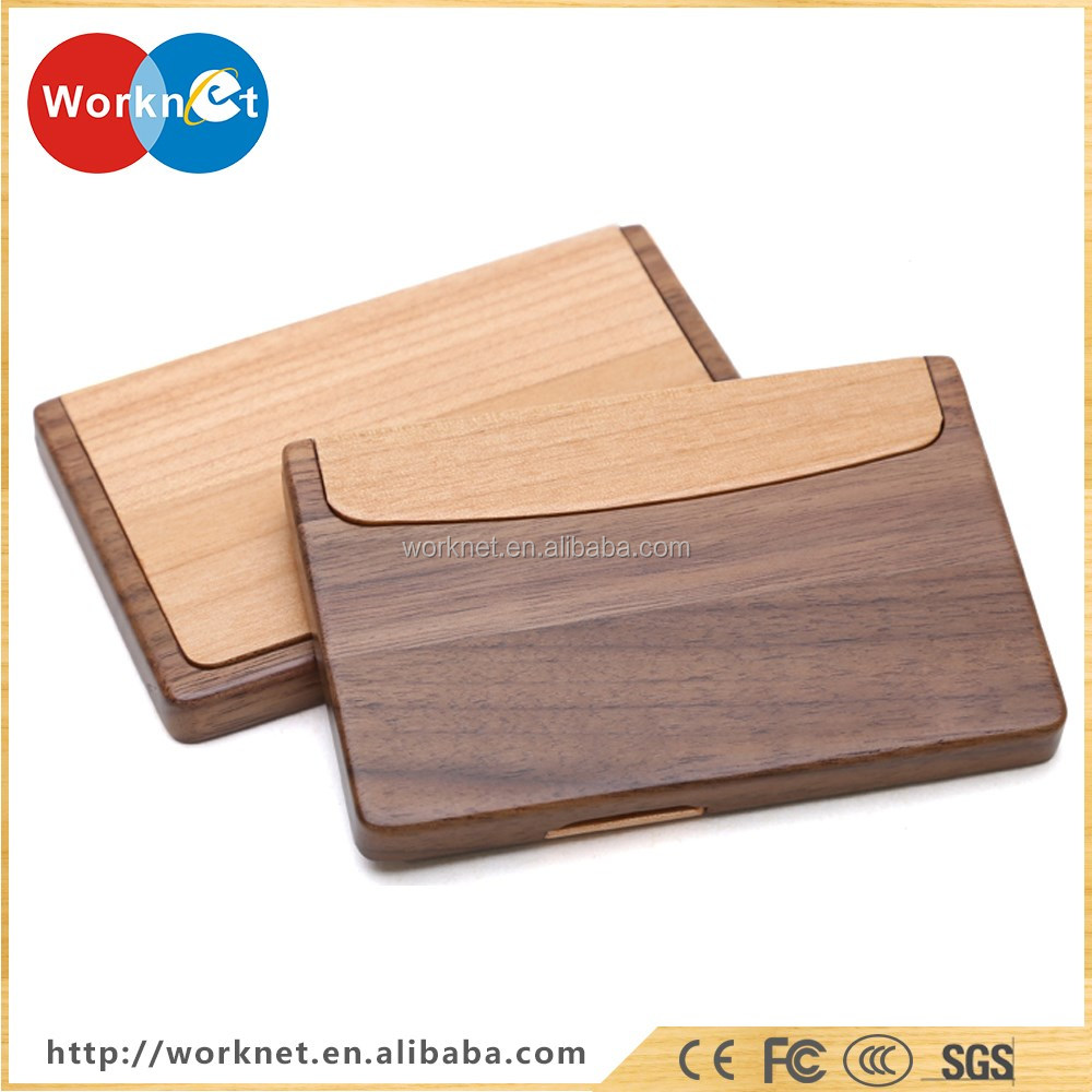 Shenzhen Factory Cheap Price Walnut Wood+cherry Wood Business Card ...