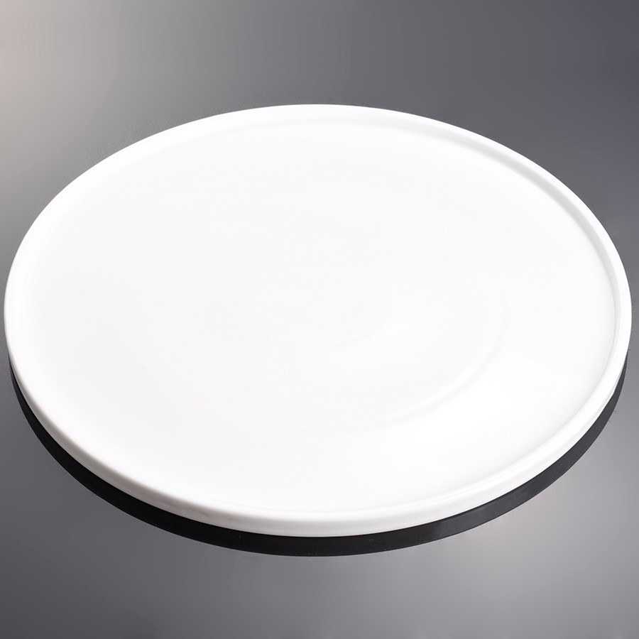 10, 12, 14 inch Ceramic Porcelain Super White Round Pizza <strong>Plates</strong>