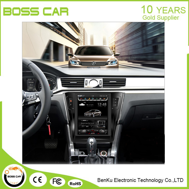 10.4 vertical screen android navigation capactive monitor for Volkswagen Passat
