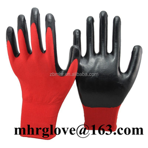 Brand MHR Nitrile Foam Micro Dot Palm Coated Work gloves,13g blue house working gloves