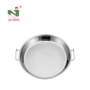 Hot sell USA round dinner plate stainless steel round trays 6 pcs plate thali good price dinner plate