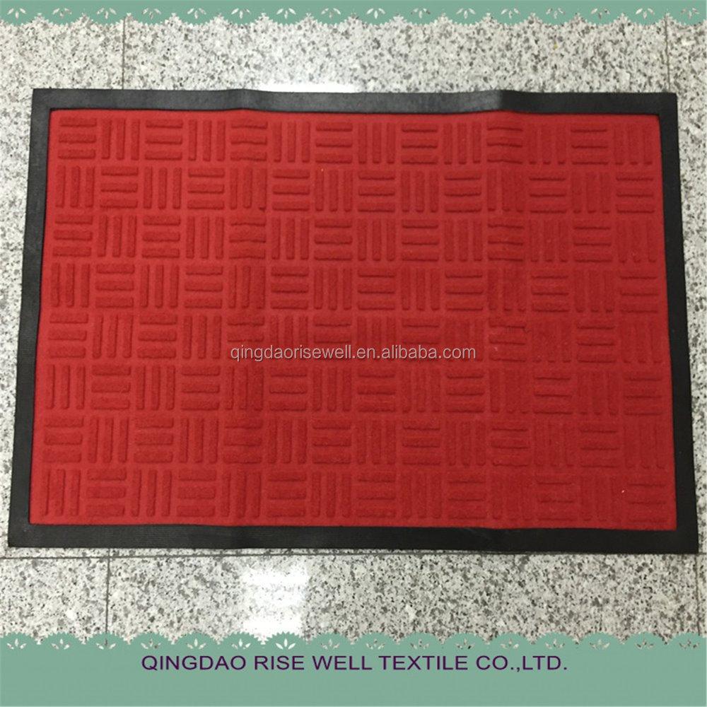 Top Selling rubber deur matten/custom embossing logo deur mat ...