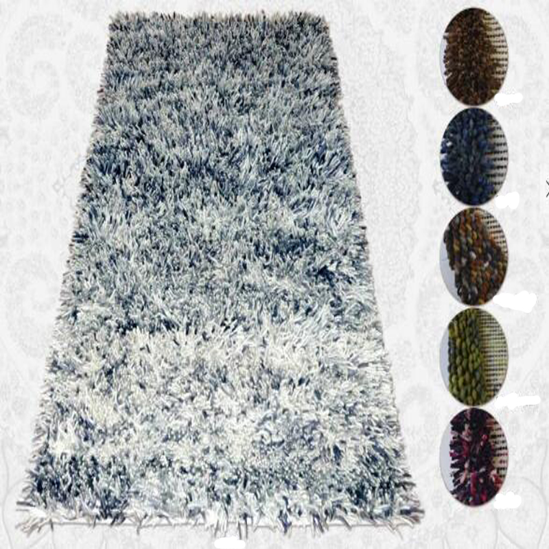 Plain surface handtufed polyester home use tapis shaggy carpet