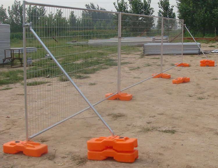 Portable security fence panel temporary fencing set