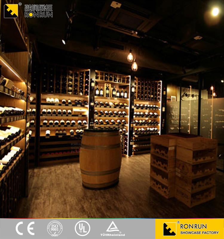 tanche l 39 humidit bois verre vin vitrine pour cave vin ou vin magasin d 39 affichage buy. Black Bedroom Furniture Sets. Home Design Ideas