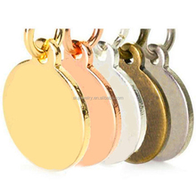 Custom Jewelry Tag with Logo Engraved on Round Disc Tags