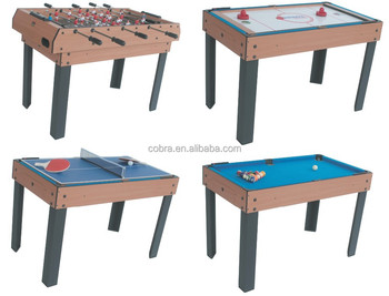 f722325cc9de9 baby foot game 4 in 1 Multi Game Tables with different games for promotion