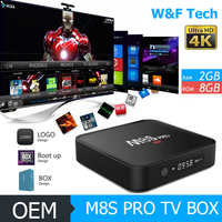 m8s pro android smart tv box firmware 2016 amlogic s905 4k 3d android full hd 1080p media player