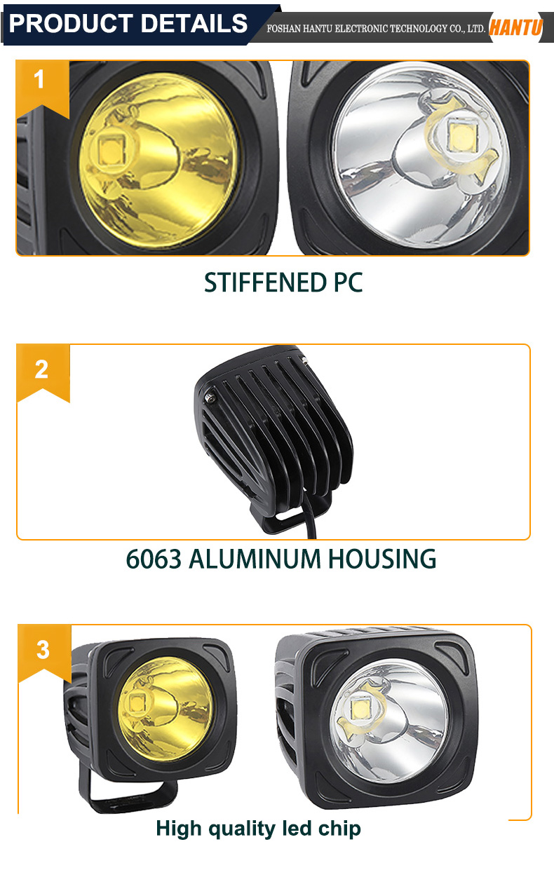 Aluminum housing auto led driving work light bar