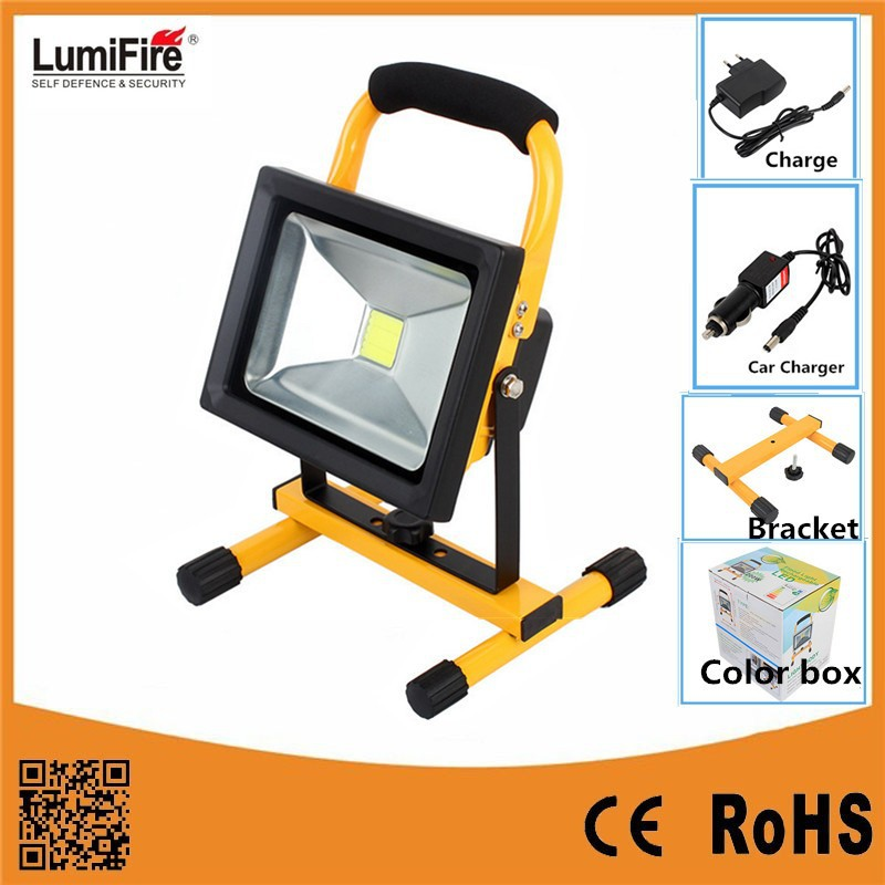 Lumifire H06 2015 High Power 20W Super Bright Rechargebale battery powered led flood light