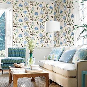 Eco Ramah Anggun Ruang Tamu Wallpaper Untuk Dekorasi Rumah