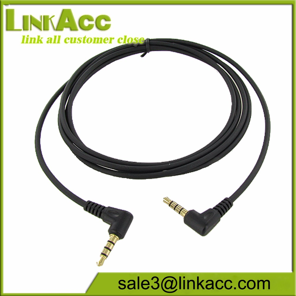 """Audio Input Cable Equivalent to Peltor FL6N 3.5mm Gold Stereo Plug 51/"""" Length"""