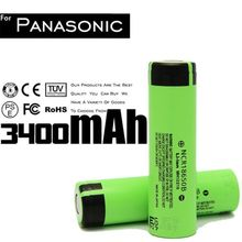 Low MOQ ncr18650 rechargeable battery 3.7v 18650b li-ion lithium battery NCR18650B 3400mah