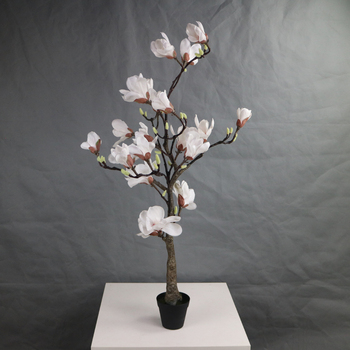 115cm High Real Touch Magnolia Flowers Tree Artificial Buy