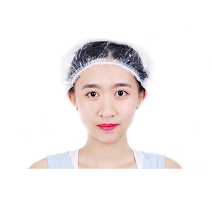 High Quality Disposable Waterproof PE Plastic Hotel Shower Cap for Women