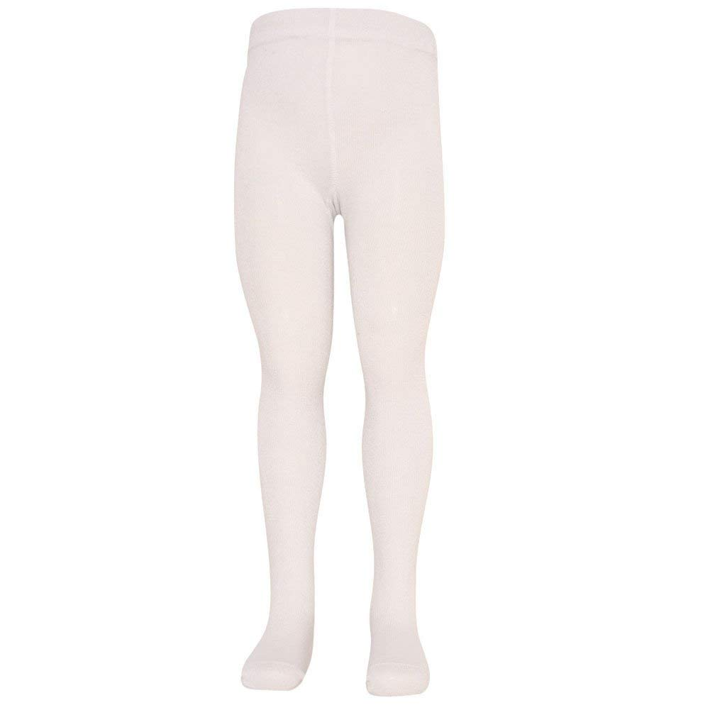 2c53f57c6a9ba0 Mopas Baby Girls White Opaque High Waisted Stretchy Footed Tights 0-12m