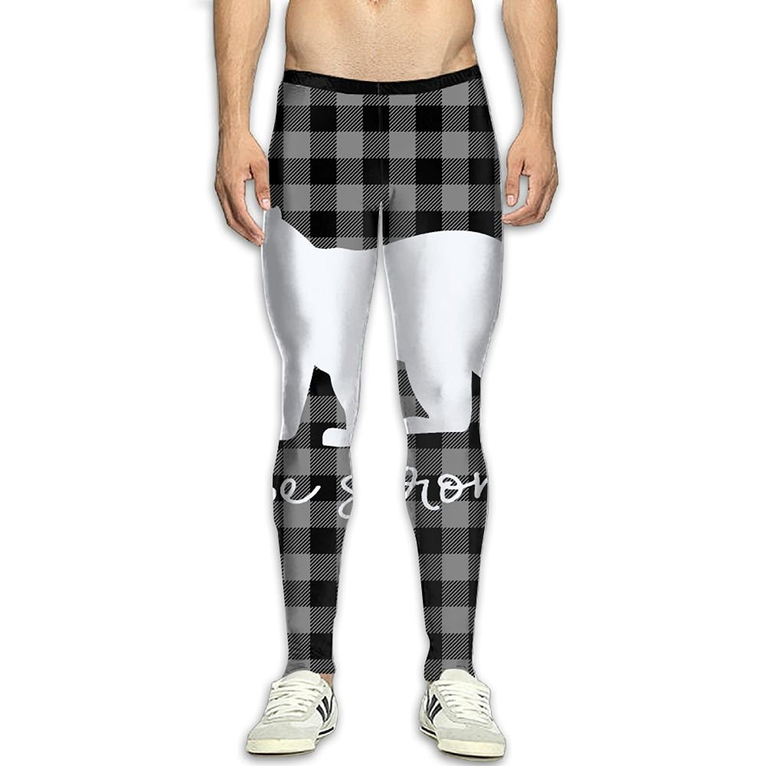 d3fbb16000 Get Quotations · Virgo Plaid Bear Buffalo Soft Compression Pants/Running  Tights Baselayer Mens Winter Pants Mens Christmas