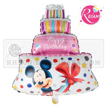 Reians Dessin Animé Rose Joyeux Anniversaire Décoration Mickey