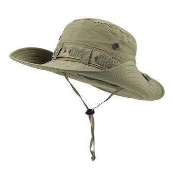 2018 Summer Outdoor Cypress Hill Bucket Hats Sun Protective Folding Fishing  Cap Wide Brim Boonie Safari baa847d5844