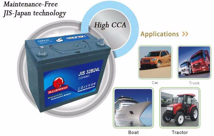 Automotive battery 12 v 120ah diesel batterie di camion, automobile auto batteria