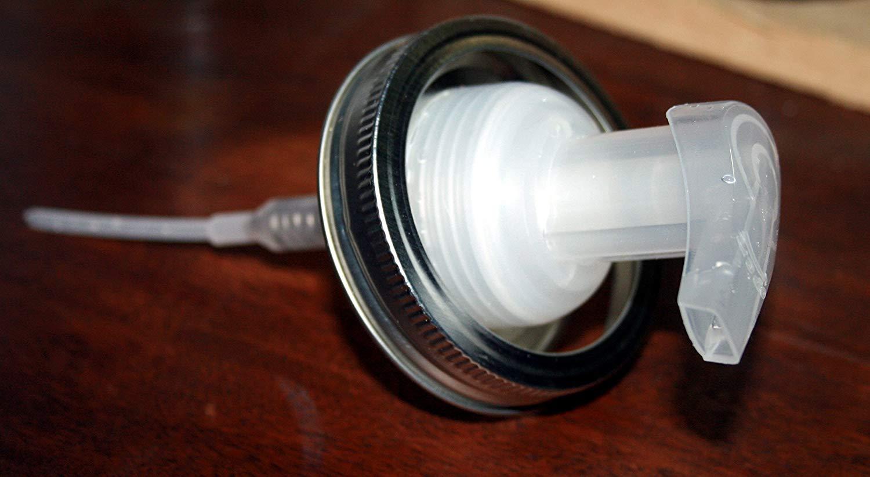 Rustic Ball Mason Jar Soap Dispenser., Mason Jar Foam Soap Pump, Lid & Ring, Rustic Jar Soap Pump