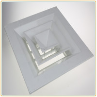 Air conditioning supply 4 way square air diffuser