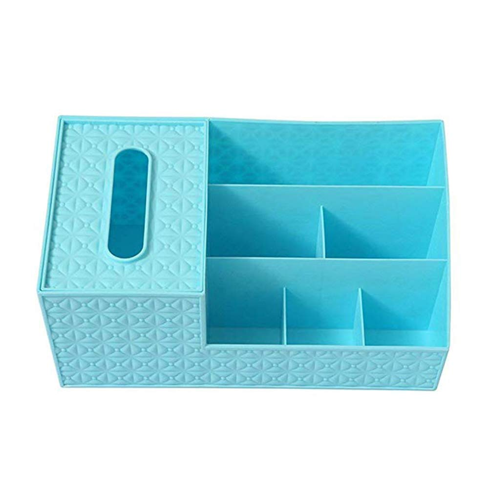 Fablcrew Desk Organizer, Multi-Functional Desktop Storage Box Office Supplies Blue