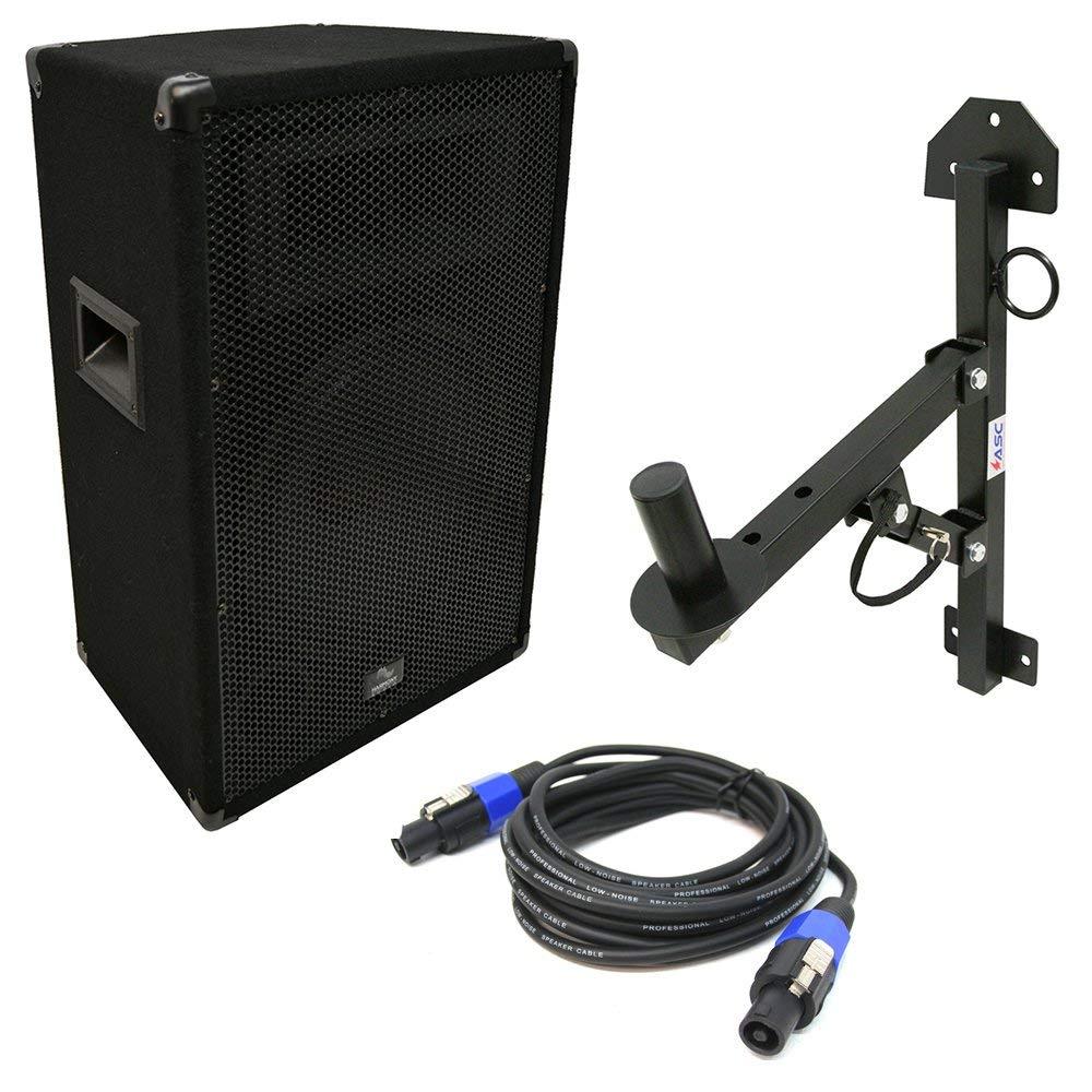 "Harmony Audio HA-V12P Pro DJ 12"" Passive 450W PA Speaker Speakon Cable & Stand"