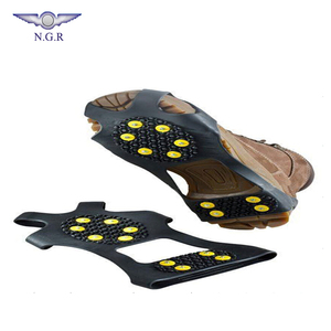 Universal Ice snow Crampons Anti Skid Rubber shoe covers for Outdoor Footwear