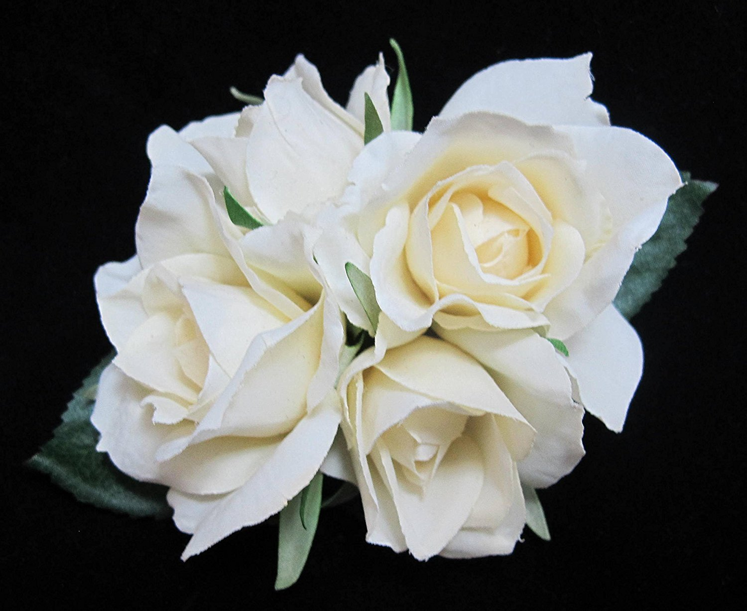 Buy White Ivory Real Touch Rose Flower Hair Clip In Cheap Price On