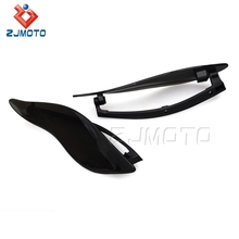 Zjmoto Motorcycle Accessories Black ABS Plastic Motorcycle Windshield