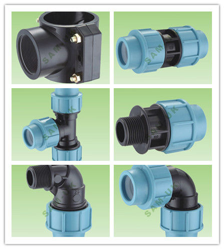 plastic PP compression fittings clamp saddle for irrigation