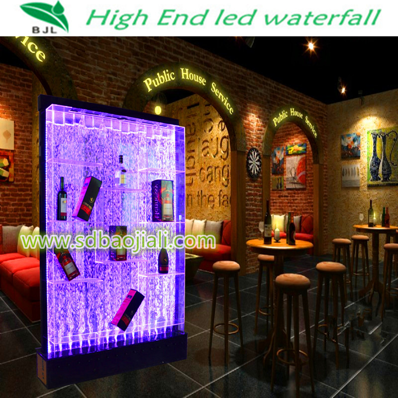 Led waterfall acrylic aquarium thai restaurant decoration for Aquarium waterfall decoration