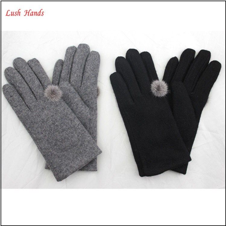 The new women's 2016 fashion ring woolen gloves