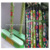 Factory supply custom size 150x2.5cm 120x2.2cm wooden flower pvc coated wooden stick