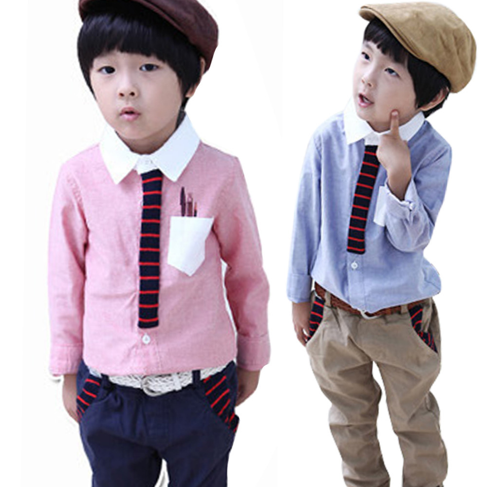 0951ee8c3d0c Buy Kids Boys Shirts Long Sleeve Casual Clothing Pocket Teen Tops T-shirt  Size 2-6Y in Cheap Price on Alibaba.com