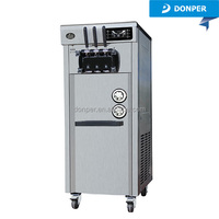 Donper Kuxue Floor Standing Full Stainless Steel Soft Ice Cream Machine Prices CKX200