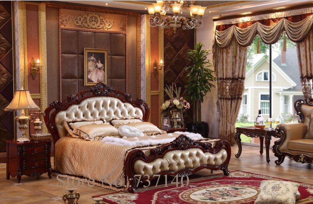 Special Pricing On Bedroom Furniture: Bedroom Furniture Baroque Bedroom Set Solid Wood Bed