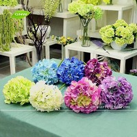 GNW FLH02 different colors silk artificial hydrangea flower Guangzhou factory wholesale