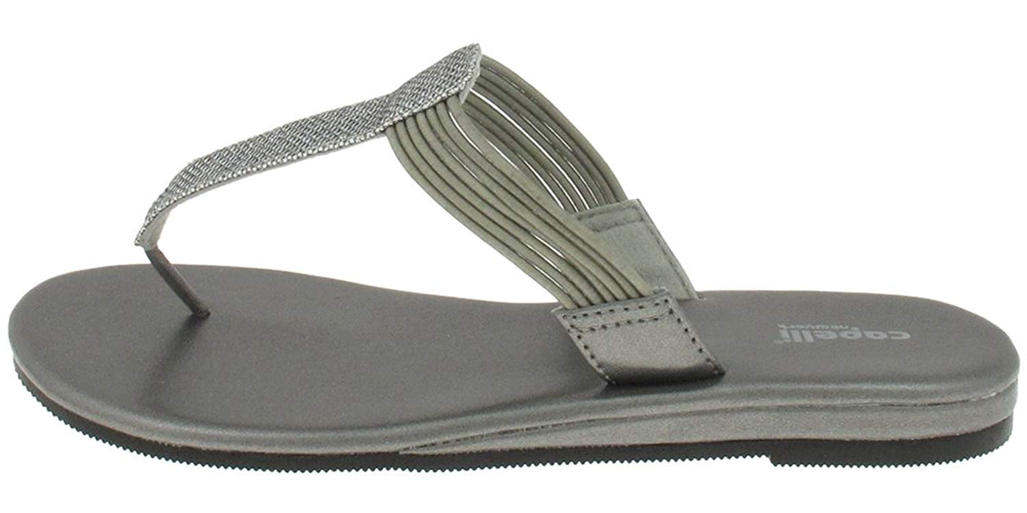 Capelli New York Textured faux leather thong Ladies Flip Flop