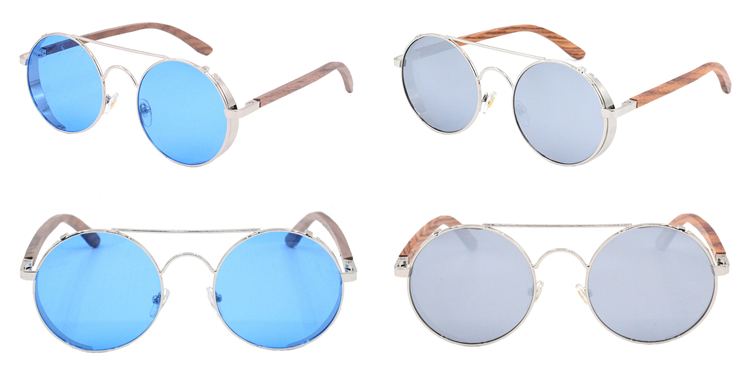 2019 Korean fashion multi color PC round frame shades sunglasses drop shipping