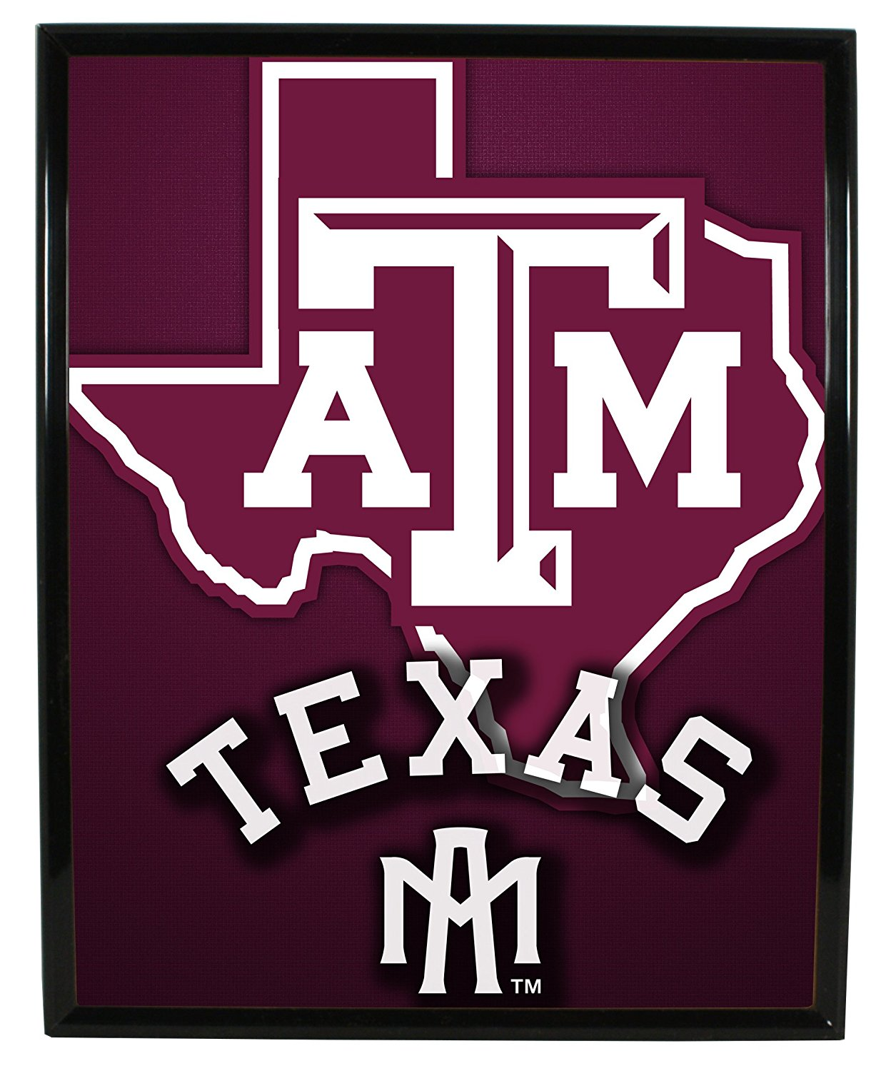 "TEXAS A&M AGGIES FRAMED ARTWORK-TEXAS A&M AGGIES COLLEGE FRAMED LOGO-8""X10"""