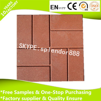 Hot Selling Rubber Patio Tiles Driveway Recycled Rubber Paver For Garden  Landscaping