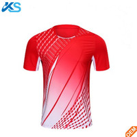 Sublimation badminton jersey dri fit mesh table tennis t shirts men