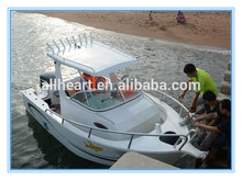 5.8M 6.25M Plate Aluminum Welded Power Fishing Cabin Boat With Deep V Hull