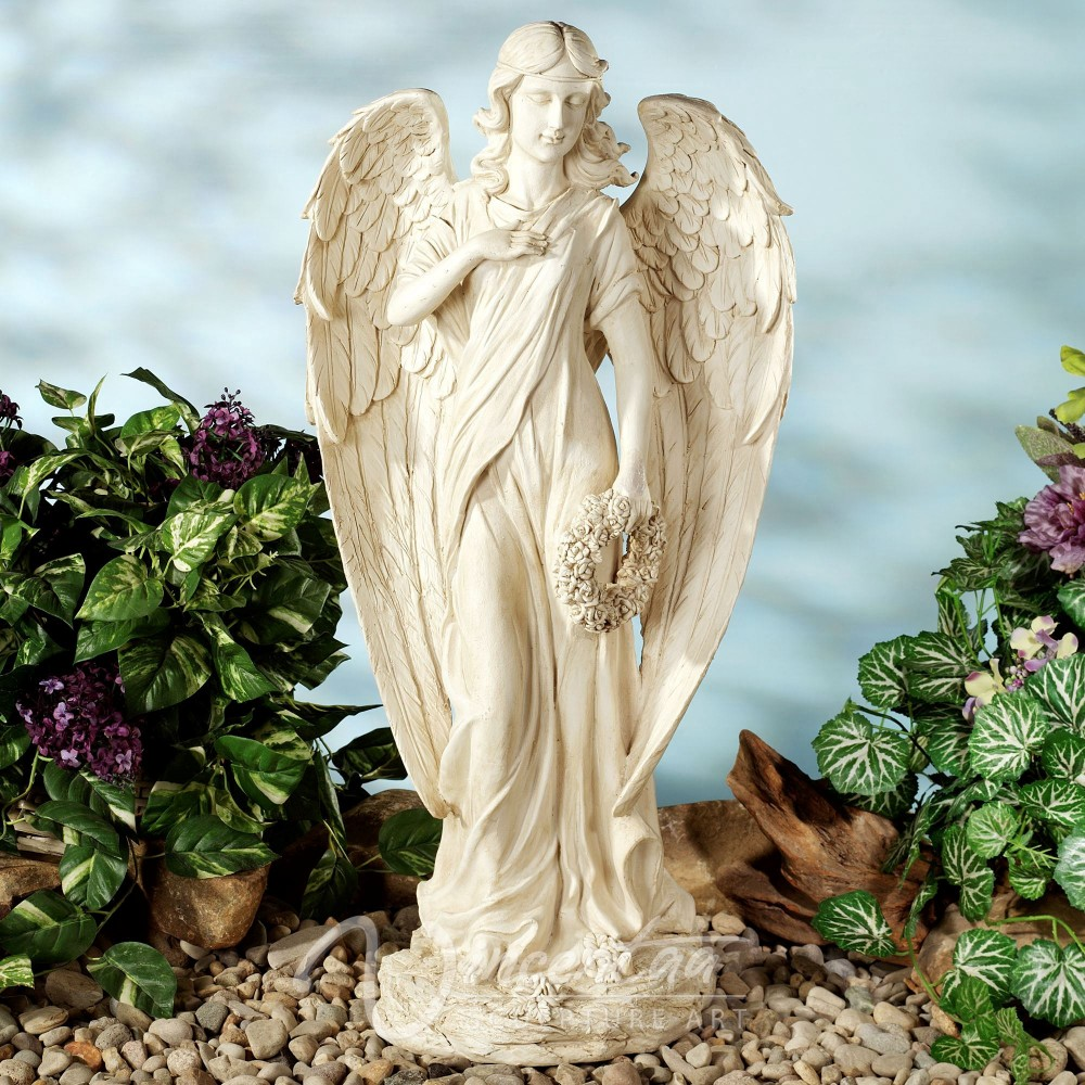 Large Garden Decoration Stone Carvings And Statues White